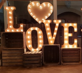 Vintage LOVE Letter Lights